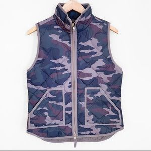 J Crew | Excursion Quilted Army Green Camo Vest